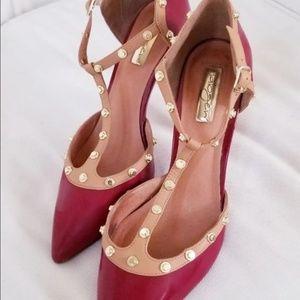 Halogen Shoes - Red Halogen Studded Heels